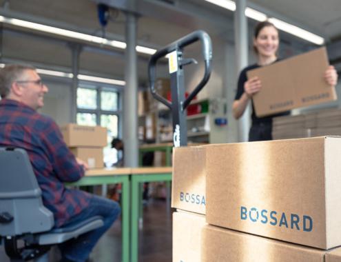 Non Food Verpacken, z.B. Produkte von Bossard